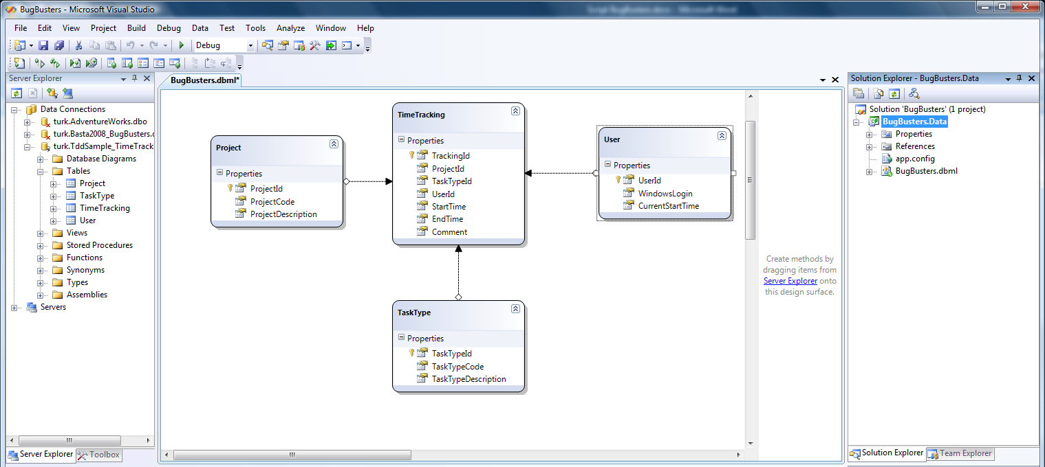 Linq-to-SQL data model