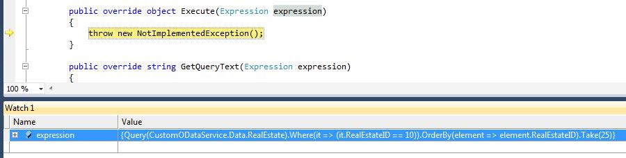 Custom OData Provider for Windows Azure