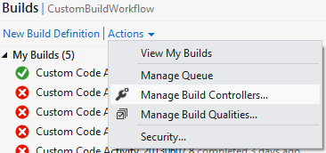 Manage Build Controllers from Build Tab in Team Explorer