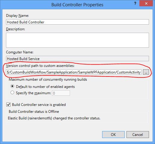 Specify the path where the compiled code of the custom build assembly are located.