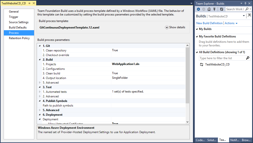 Customizing Build Workflows in Visual Studio Online