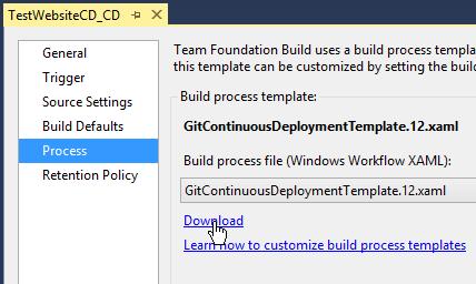 Customizing Build Workflows in Visual Studio Online