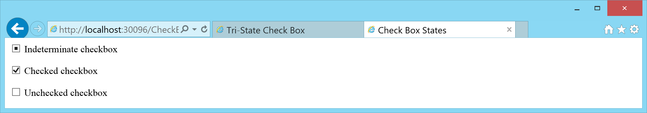 Tri-State Check Box in HTML with AngularJS and TypeScript