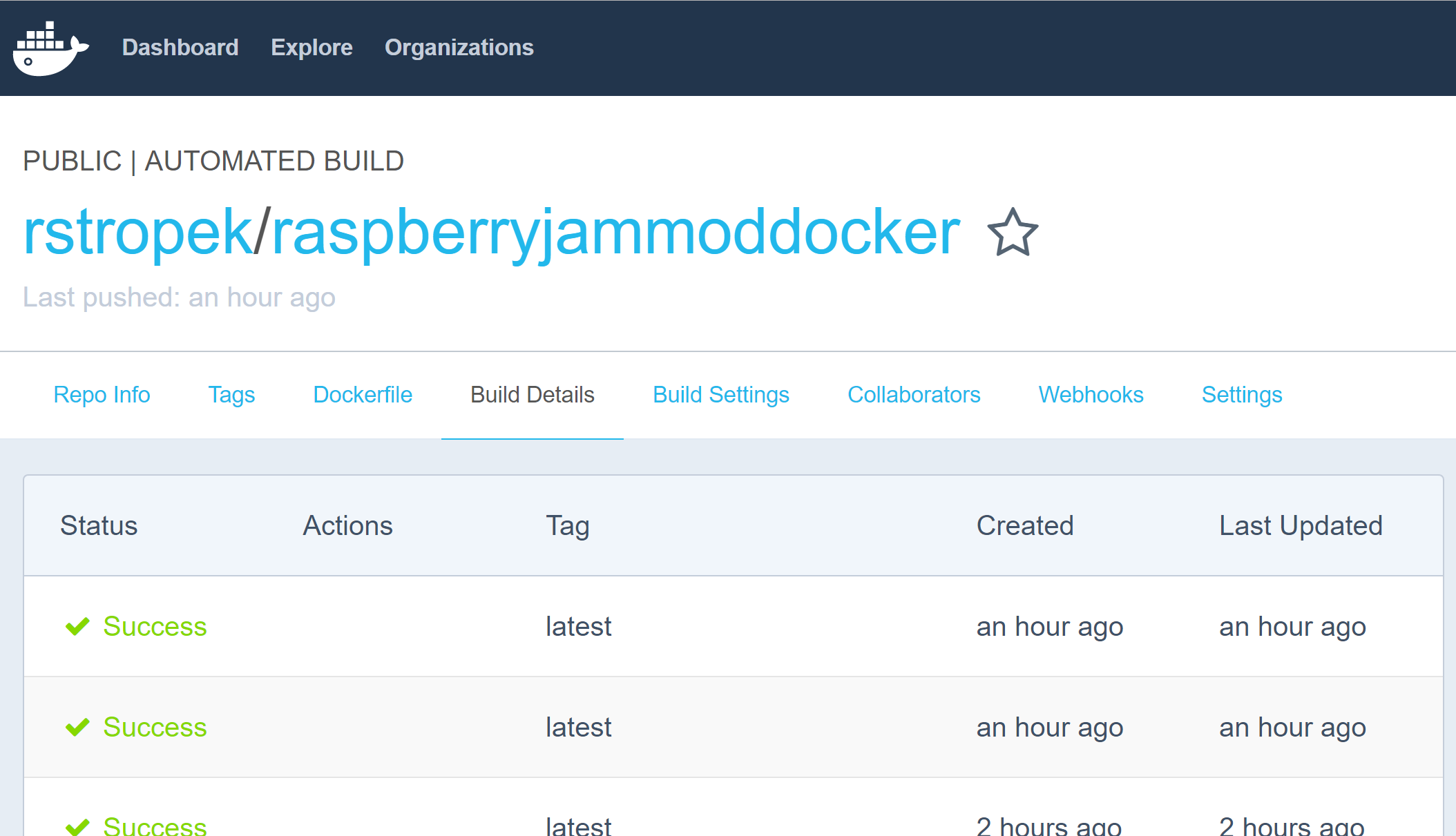 Docker automated build
